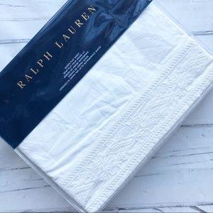 Ralph Lauren Ananlena Queen Flat sheet embroidered